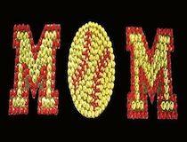 Softball Mom Rhinestone & Glitter Window Sticker Decal