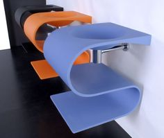 contemporary washbasin design with color option