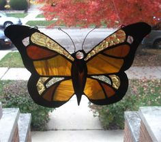 Stained Glass SuncatcherMonarch Butterfly in Fall by smashingglass, $35.00