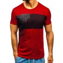 Egyedi, mintás férfi póló #181403 - bordó