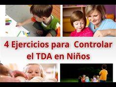 4 Ejercicios para controlar el déficit de atención o TDA, TDAH en niños, visita aquí el video de Youtube: https://www.youtube.com/watch?v=dHdscLOCJ8w #deficit #atencion #niños
