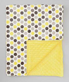 Look what I found on #zulily! Lemon & Gray Mod Dot Toddler Blanket #zulilyfinds