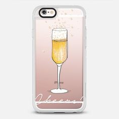 Cheers - protective iPhone 6 phone case in Clear and Clear by @pizzazzdesign #food   @casetify