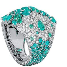 Pure Paraiba Passion from @vanleles_diamonds Zanzibar Collection - ring featuring paraibas and diamonds crafted in white gold. #vanleles #hautejoaillerie #highjewelry #jewelry #love #ethicallysourced #passionatelycrafted