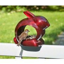 Good Directions Enchanted Rabbit Ruby Red Bird Feeder - JacobsOutdoor