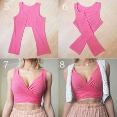 Easy No-Sew Crop Top