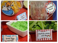 Thing 1 and Thing 2- Dr. Seuss related food to serve at your shower.