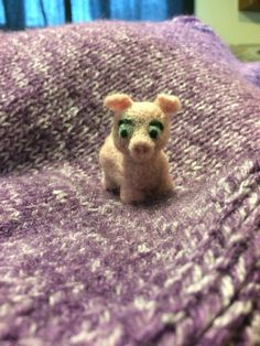 Here piggy piggy! A needle felted companion for your desk or your child's animal collection. This little piggy stayed home.... with you and your family!  https://www.etsy.com/shop/FeltingOutsideTheBox?ref=hdr_shop_menu