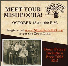 Northeast Indiana Jewish Genealogy Society Dna Kit, Door Prizes, Family History, Genealogy, Indiana, How To Get