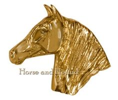 Baroque Horse Brass Pulls Hardware - Hardware - By Mayer Mill at Horse and Hound Gallery