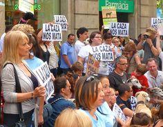 Concentración por los galgos. Barcelona