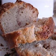 Cinnamon Bread is perfect for lazy weekend mornings. It also wraps up as a pretty holiday gift.  Allrecipes.com