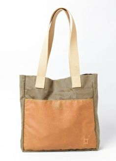 Compass Waxed Canvas Tote