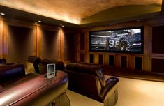 Our home theater wont' be quite this snazzy, but we'll do our best... also, no football allowed on the big tv :-p