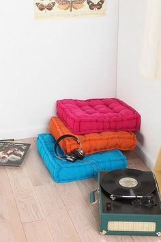 in lieu of a new sofa, i am going to get something like this / Tufted Corduroy Floor Pillow - Urban Outfitters Meditation Chair, Meditation Space, Cool Stuff, Zen Room, Floor Seating, Floor Cushions, Couch Cushions, Throw Pillows, Soft Furnishings