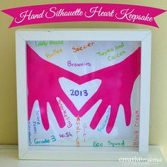 Hand Silhoutte Heart Keepsake {Create Memories with Kids} - The Girl Creative