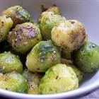 Roasted Brussel Sprouts.  Who would have guessed that by just using olive oil, kosher salt, and black pepper you could end up with AMAZING brussel sprouts?!  Now one of my favorite side dishes.    *Wannabe Homemaker Kitchen Approved*