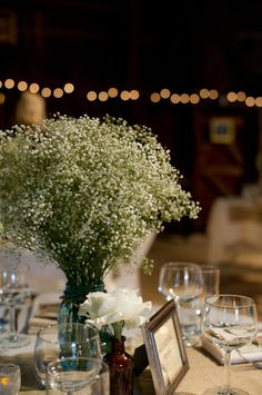 Elegant Vintage Themed Wedding table decor floral arrangement