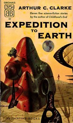 1953 edition of Expedition to Earth (Clarke Short Stories). Cover by Richard Powers.