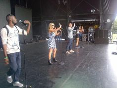 The gorgeous Harri from NVS wearing Ruby Rocks style Blair wedge on tour with JLS this summer x