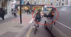 Es falso este vídeo viral de la reacción de una ciclista ante el acoso de un conductor? #viral