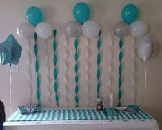 Balloons and Streamers - 27 Super Cute Baby Shower Decorations to Make Your Party the Best .Baby shower decorations chevron Love the balloons/streamers. red, white, gray, black for AngieHeading to a baby shower is a fun and exciting time but knowing Decoracion Baby Shower Niña, Idee Baby Shower, Shower Bebe, Baby Shower Gifts, Shower Party, Baby Shower Parties, Baby Shower Themes, Shower Ideas, Diy Shower