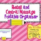 FREE Common Core foldable graphic organizer for retell and central message Thinking Strategies, Reading Strategies, Reading Skills, Teaching Reading, Reading Comprehension, Teaching Ideas, Teaching Language Arts, Classroom Language, Literacy Activities