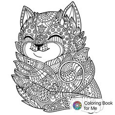 Illustration about Zen art cat. Hand-drawn fluffy cat portrait in zentangle style for adult coloring page. illustration on a white background. Illustration of handdrawn, animal, decorative - 92240848 Cat Coloring Page, Coloring Book Pages, Coloring Sheets, Motifs Aztèques, Free Adult Coloring, Zen Art, Zen Doodle, Girly, Fluffy Cat