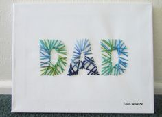 FATHERS DAY CRAFT - Super cute and unique craft for kids to make for Dad #fathersday -