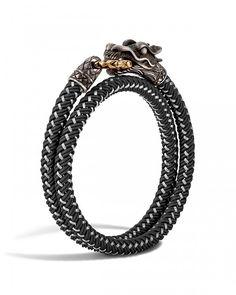 John Hardy Men's Naga Double Wrap Dragon Cord Bracelet | Bloomingdale's