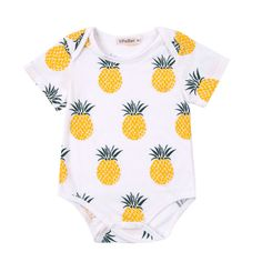 * Pineapple prints<br /> * Snap buttons<br /> * Material: 95% Cotton, 5% Spandex<br /> * Machine wash, tumble dry<br /> * Imported