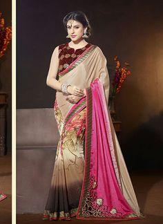 Wholesale Multi Colour Designer Saree With Georgette
