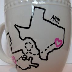 DIY Sharpie state coffee mug going to make one for my friend who is going to college!
