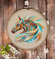 This is modern cross-stitch pattern of Mandala Horse for instant download. You will get 7-pages PDF file, which includes: - main picture for your reference; - colorful scheme for cross-stitch; - list of DMC thread colors (instruction and key section); - list of calculated thread