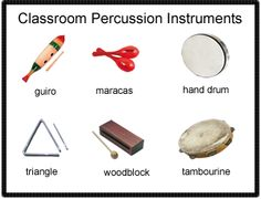 Beth's Music Notes: 1st Grade Percussion Resources