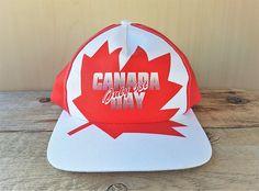 CANADA DAY July 1st Souvenir Vintage 90s Big Logo Snapback Hat Canadian  Flag Baseball Cap Canadian Birthday Maple Leaf Pride AJM Ballcap fce96794de92