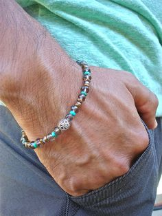 Men's Minimalist Spiritual Healing and Protection by tocijewelry