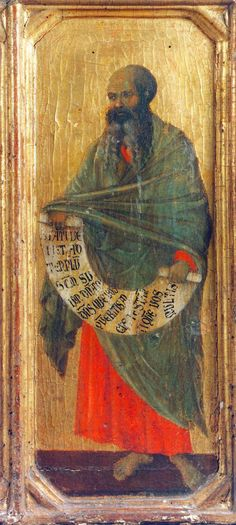 Duccio di Buoninsegna ca. 1255 – 1319 The Prophet Malachi tempera on panel — Duccio Di Buoninsegna, Gerrit Dou, Web Gallery Of Art, Lord Of Hosts, European Paintings, Tempera, Bible Stories, Christian Faith, Malachite
