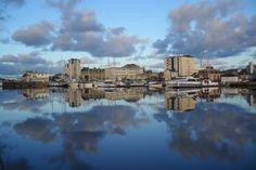 Appart'City Cherbourg #Frankrijk #Normandie #water #uitzicht #wolken #lucht #weespiegeling #spiegeling #reizen #travel #TravelBird