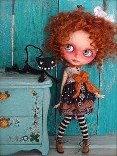 blythe doll. dollhouse. miniatures.
