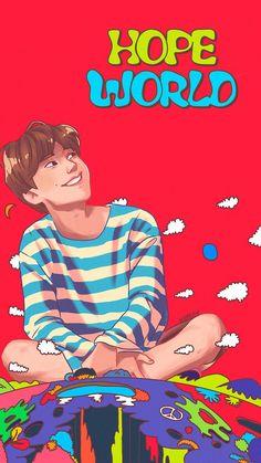 s s bts wallpaper Hoseok Bts, Bts Jungkook, Fanart Bts, Kpop Posters, Hope Art, V Bts Wallpaper, Kpop Drawings, Shared Folder, Fan Art