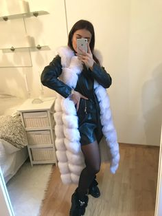 Looking for a Faux Fur Vest? Shop our Faux Fur Vest Made For You With ❤. Our fur vests are only made of artificial fur, supplemented by artificial leather. Vest Outfits For Women, Clothes For Women, Long Vests, Faux Fur Vests, Fur Fashion, Outfit Of The Day, Winter Outfits, Gray Color, Fur Coat