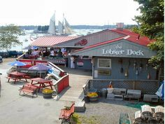 The Lobster Dock in Boothbay Harbor, Maine- best blueberry pie and lobster rolls EVER.
