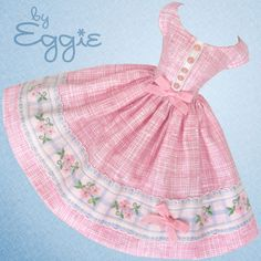 Cotton Candy - Vintage Reproduction Repro Barbie Doll Dress Clothes Fashions #Fanfare