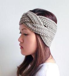 Vincha trenzada crochet
