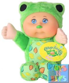 Cabbage Patch Kids Cuties Mignons Frog Plush Doll NEW for sale Plush Dolls, Doll Toys, Baby Dolls, Ty Toys, Kids Toys, Christmas Stuff, Christmas Ideas, Frogs For Sale, Black Puppy