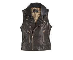 Calypso St. Barth - Marti X Dani Stahl - Dark Brown Lamb Leather Vest