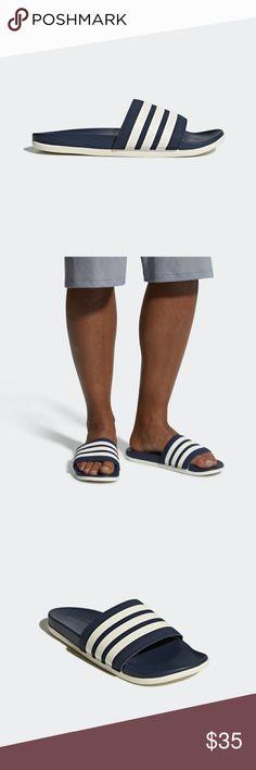 the latest c2289 abc9c ADILETTE CLOUDFOAM PLUS STRIPES AP9970 D4 Rejuvenate tired feet in these  slides for men. The