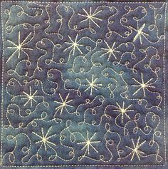 Free motion quilting. Tangle of lights