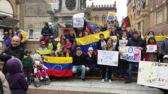 Venezolanos se unen a la protesta en Italia #22F 1pm | @ftwinzer